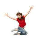 Adolescente de salto Imagen de archivo libre de regalías