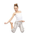 Adolescente de salto Fotografía de archivo