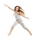 Adolescente de salto Fotografía de archivo libre de regalías