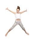 Adolescente de salto Foto de archivo