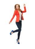 Adolescente de salto en ropa casual Imagen de archivo libre de regalías