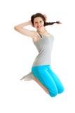 Adolescente de salto feliz Imagem de Stock