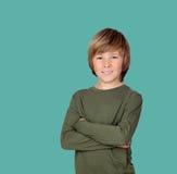 Adolescente de sorriso com um gesto feliz foto de stock