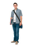 Adolescente de sorriso com um schoolbag Imagens de Stock