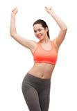 Adolescente de sourire dans la danse de vêtements de sport Photos libres de droits