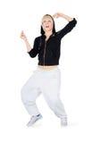 Adolescente del baile en la acción. Imágenes de archivo libres de regalías