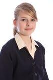 Adolescente del blonde del retrato de la escuela secundaria Imágenes de archivo libres de regalías
