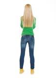 Adolescente del estudiante. Vista posterior Fotografía de archivo