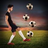 Adolescente del futbolista Foto de archivo libre de regalías
