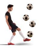 Adolescente del futbolista Imagenes de archivo