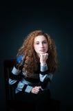 Adolescente del pelo rizado Fotografía de archivo