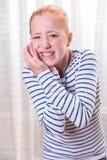 Adolescente del retrato con el dolor del diente Foto de archivo libre de regalías