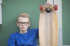Adolescente del retrato con los vidrios Fotos de archivo