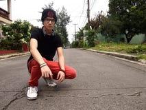 Adolescente del varón de la cadera Foto de archivo