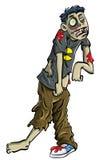 Adolescente del zombi de la historieta Imágenes de archivo libres de regalías