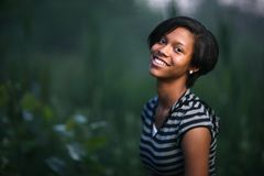 Adolescente dell'afroamericano Fotografia Stock Libera da Diritti
