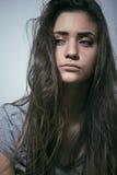 Adolescente depressioned problema con el pelo ensuciado Foto de archivo