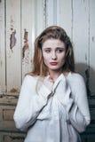 Adolescente depressioned problema con el pelo ensuciado y Fotografía de archivo