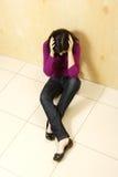 Adolescente depresso Immagini Stock Libere da Diritti