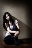Adolescente deprimido Fotografía de archivo