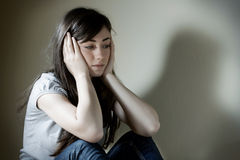 Adolescente deprimido Imagem de Stock Royalty Free
