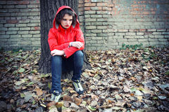 Adolescente deprimido Fotografia de Stock