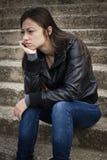Adolescente deprimido Fotos de archivo