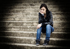 Adolescente deprimido Fotos de archivo libres de regalías