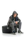 Adolescente deprimido Imagenes de archivo