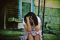Adolescente deprimido foto de stock royalty free
