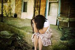 Adolescente deprimido foto de stock
