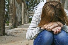 Adolescente deprimido. Fotos de Stock