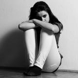 Menina deprimida do tenage Imagem de Stock