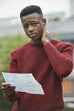 Adolescente desapontado com resultados do exame imagens de stock