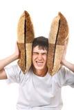 Adolescente descontentado con el amortiguador Imagenes de archivo