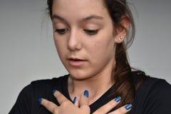 Adolescente desesperado de la muchacha Imagen de archivo libre de regalías