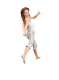 Adolescente di salto Immagine Stock Libera da Diritti