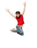 Adolescente di salto Fotografia Stock