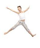 Adolescente di salto Immagini Stock Libere da Diritti