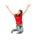 Adolescente di salto Fotografia Stock Libera da Diritti