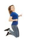 Adolescente di salto felice Immagine Stock
