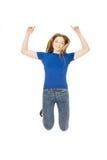 Adolescente di salto felice Immagini Stock Libere da Diritti