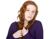 Adolescente dirigido rojo ansioso Imagen de archivo libre de regalías