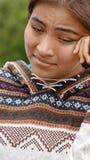 Adolescente diverso gritador de la muchacha Fotografía de archivo