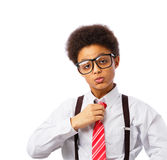 Adolescente do afro-americano do homem de negócios Foto de Stock