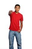 Adolescente do macho do americano africano Imagem de Stock Royalty Free