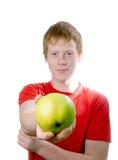 Adolescente do Redhead isolado em um fundo branco. Imagens de Stock Royalty Free
