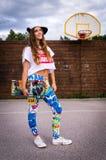 Adolescente do skate Fotografia de Stock
