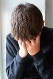 Adolescente doloroso Imagen de archivo libre de regalías