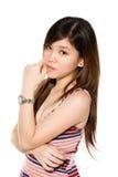 Adolescente dulce con el pelo largo Foto de archivo libre de regalías